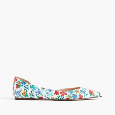 Audrey flats in Liberty® Edenham floral
