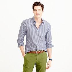 Slim lightweight oxford shirt in wide stripe