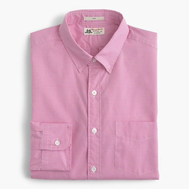 Thomas Mason® for J.Crew Ludlow shirt in pink microgingham