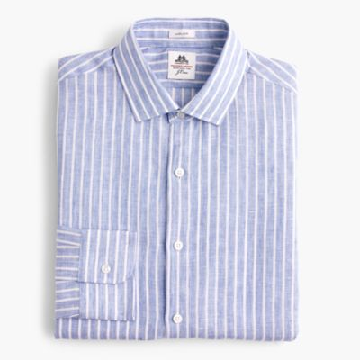 Thomas Mason® for J.Crew Ludlow shirt in striped linen