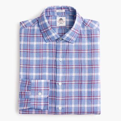 Thomas Mason® for J.Crew Ludlow shirt in plaid linen