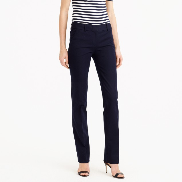 Petite Campbell trouser in two-way stretch cotton