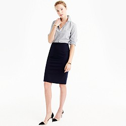 Tall pencil skirt in bi-stretch cotton