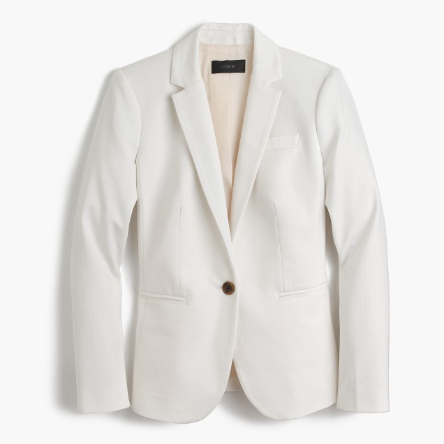 Campbell blazer in two-way stretch cotton