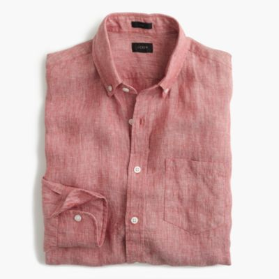 Slim délavé linen shirt