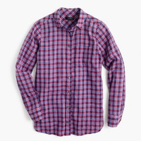 Boy shirt in purple twilight plaid