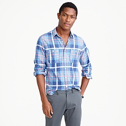 Springweight flannel in blue plaid