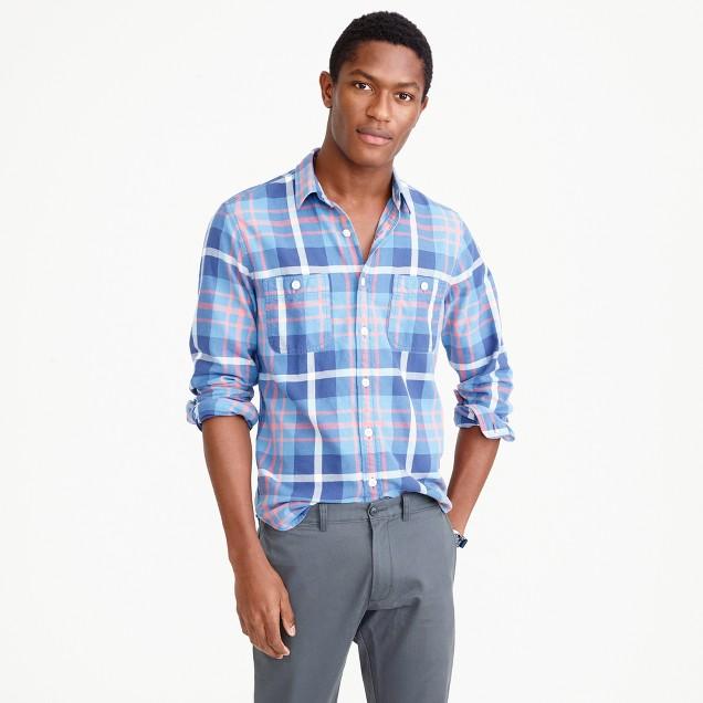 Springweight flannel in blue plaid