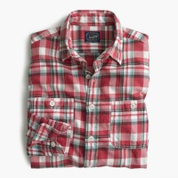 Springweight flannel in red plaid