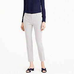Petite cropped trouser in seersucker