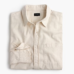 Heathered slub cotton shirt