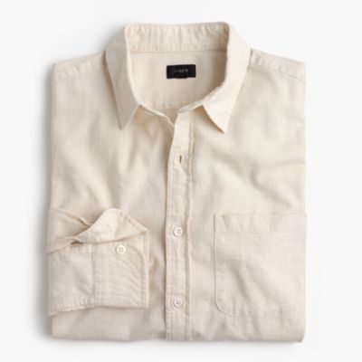 Slim heathered slub cotton shirt