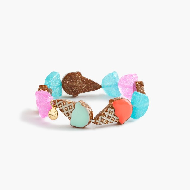 Girls' ice cream elastic bracelet