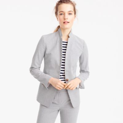 Tall Regent blazer in seersucker