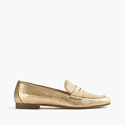 Charlie loafers in metallic leather