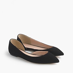 Audrey flats in suede