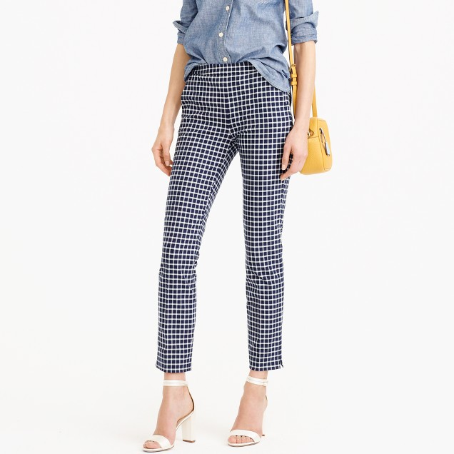 Tall Martie pant in windowpane