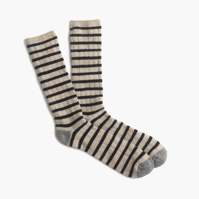 Italian cashmere striped socks