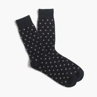 Italian cashmere small dot socks