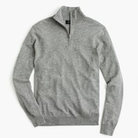 Lightweight Italian cashmere half-zip sweater