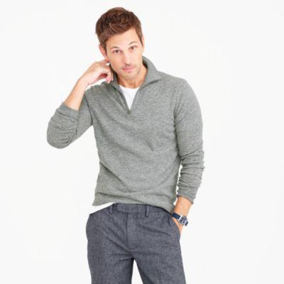 Lightweight Italian cashmere half-zip sweater