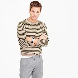 Lightweight Italian cashmere crewneck sweater in wide stripe
