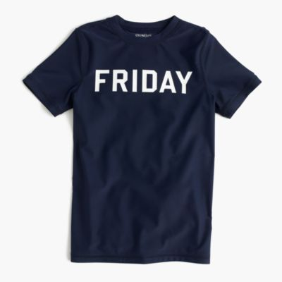 "Boys' short-sleeve rash guard in ""Friday"""