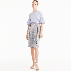 Tall pencil skirt in lightweight tweed