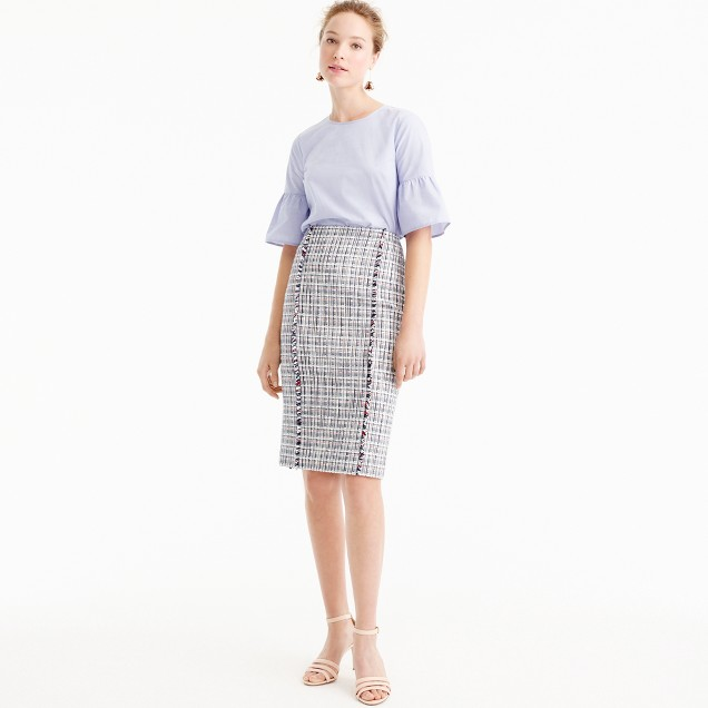 Pencil skirt in lightweight tweed