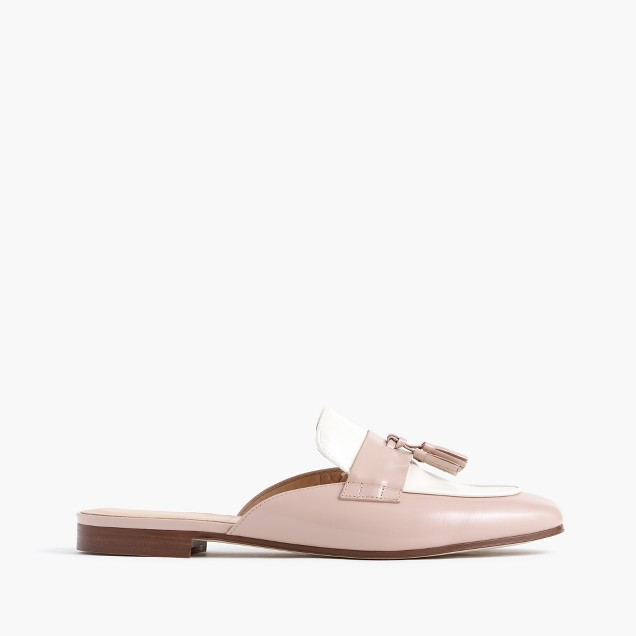 Charlie mules in colorblock leather