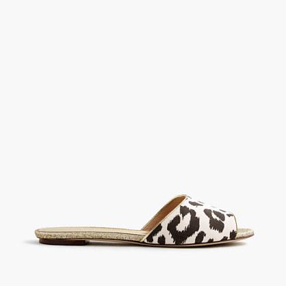 Leopard slide sandals