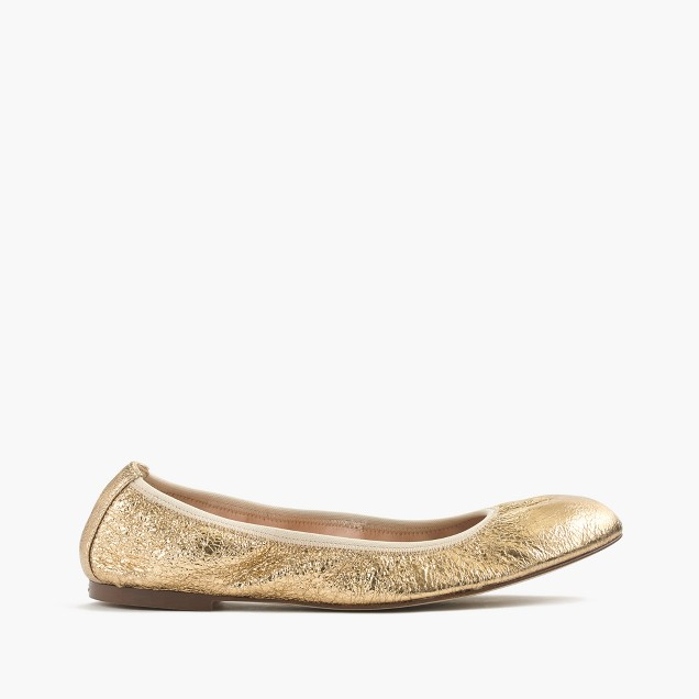 Lea ballet flats in metallic leather