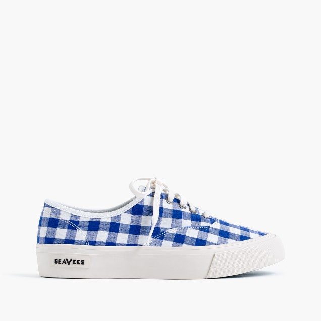 SeaVees® for J.Crew legend sneakers in gingham