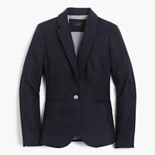 Campbell blazer in linen - NAVY