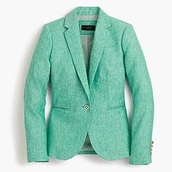 Petite Campbell blazer in linen