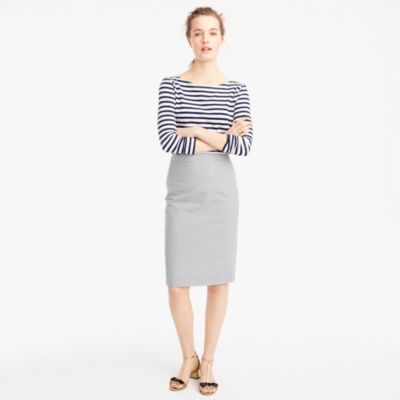 Petite pencil skirt in seersucker