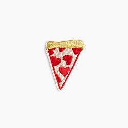 Kids' pizza iron-on critter patch