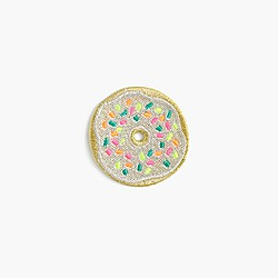 Kids' donut iron-on critter patch