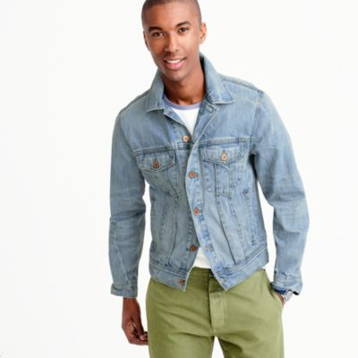 Denim jacket in light wash