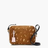 Signet bag in colorblock Italian calf hair