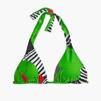 Sliding halter bikini top in Ratti® striped floral