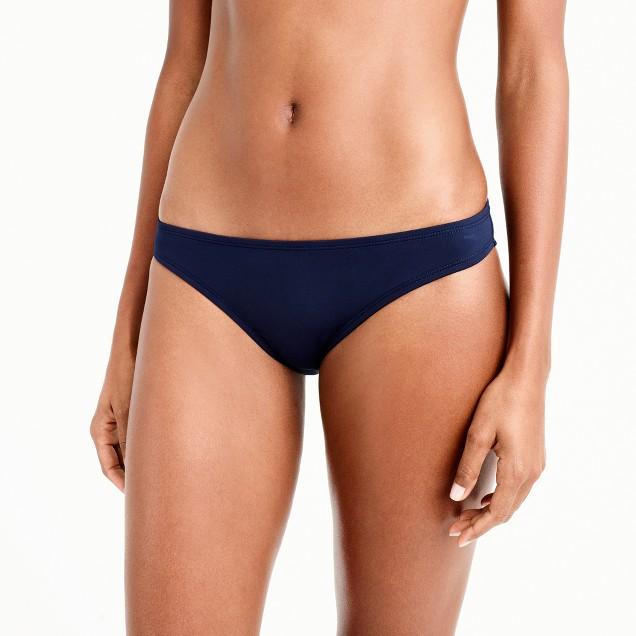 Low-rider bikini bottom in Italian matte