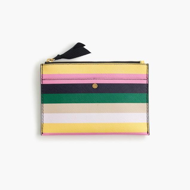 Medium pouch in stripe
