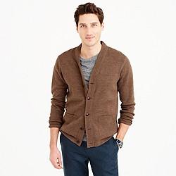 Cotton-linen cardigan sweater