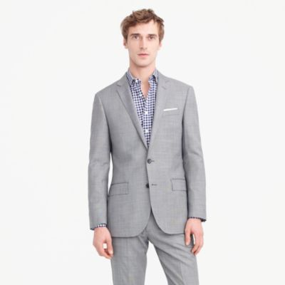 Ludlow suit jacket in Italian stretch worsted wool