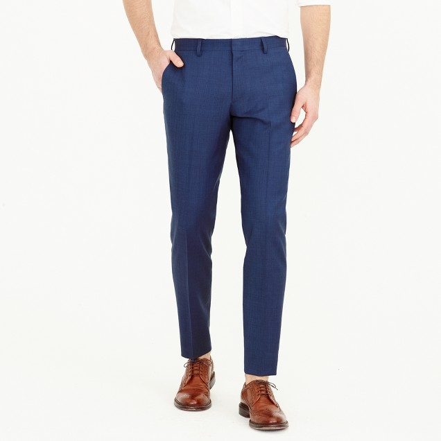 Ludlow suit pant in Italian stretch worsted wool