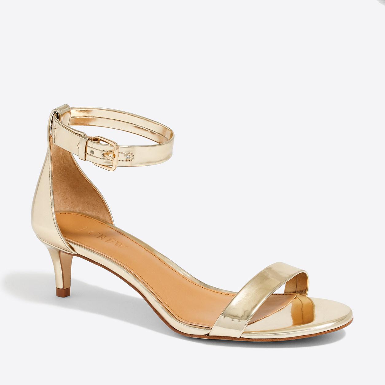 Esme metallic kitten heels : Heels | J.Crew Factory