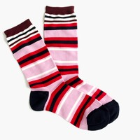 Trouser socks in colorblock stripe