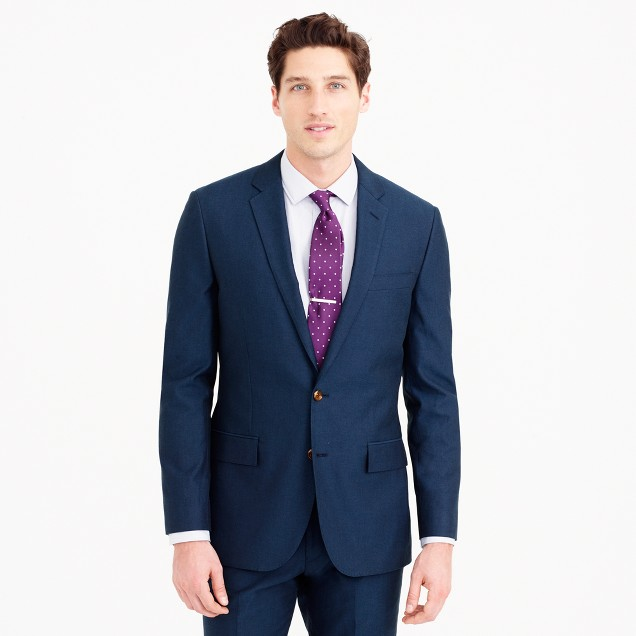 Ludlow suit jacket in Italian cotton oxford