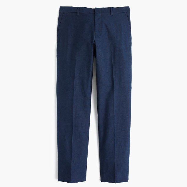 Ludlow suit pant in Italian cotton oxford